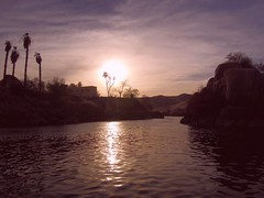 Egypt (Aswan) Last sun lights on the Nile River (ustung) Tags: sunset sky sun river landscape nikon outdoor egypt nile aswan watercourse