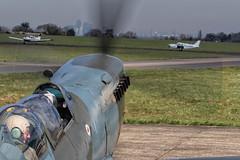 CONTACT! (mark_rutley) Tags: flying airport aircraft aviation flight spitfire contact worldwar2 airfield worldwartwo bigginhill