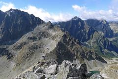 Widok z Małej Wysokiej na Gerlach, Litworowy Szczyt, Wyskoą i Rysy