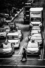 Hold back the traffic (MacCabri) Tags: street nyc blackandwhite cars monochrome canon eos traffic streetphotography newyok 24105mm 70d streetcapture