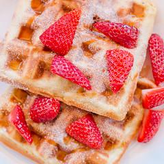 Sunday Breakfast (AlistairBeavis) Tags: food breakfast dessert strawberry sweet tasty maplesyrup waffle lazysunday 52weeks alistairbeavis alistairbeaviscom