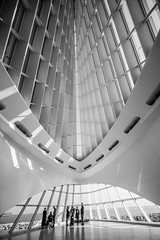 These Things I Thought I'd Share With You I Keep to Myself (Thomas Hawk) Tags: bw usa wisconsin architecture america unitedstates fav50 wheelchair unitedstatesofamerica milwaukeeartmuseum milwaukee santiagocalatrava fav10 fav25 fav100