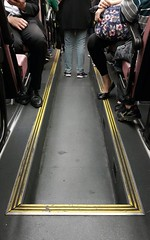 triangle (capcap119) Tags: bus hongkong legs rushhour doubledecker crowded