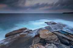 Headland (FPL_2015) Tags: ocean sunset seascape water landscape rocks waves sydney australia northernbeaches northcurlcurl leefilter nd18 canon6d gnd09 canon1635f4lis