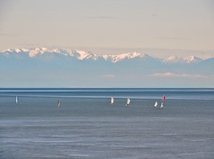 olympic morning (Upupa4me) Tags: sun snow nature washington spring sailboats anacortes washingtonpark olympicmountains salishsea