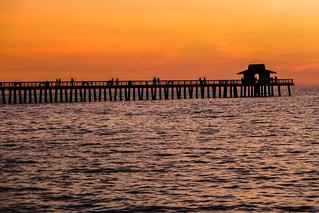 Sundown at Naples pier