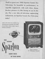 Sparton Telvision Ad -1952 (Howard258) Tags: nostalgia 1950s nostalgic vintageads