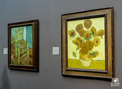 Van Gogh (andrea.prave) Tags: uk england london art painting chair paint artist arte image kunst quadro sunflowers londres bild sedia londra vangogh imagen  inghilterra girasoli quadri