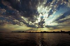 Sunset (bjoern09) Tags: sunset sea sun art beach nature water clouds strand canon eos meer wasser colours sonnenuntergang mark free wolken baltic ii 5d usm sonne ostsee holstein schleswig seebrcke f4l kellenhusen ef1740mm