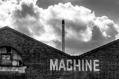 Welcome to the Machine (Mac McCreery) Tags: chimney sky blackandwhite cloud monochrome pentax sigma birminghamuk digbeth