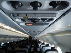 Life Vest (Al Fed) Tags: life london plane seat under flight your passenger vest germanwings eurowings 20160325