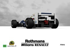 Williams Renault FW16 (#2 Ayrton Senna - 1994) (lego911) Tags: auto life car death one 1 model san williams lego render 4 may grand f1 renault 101 formula 1994 formula1 senna challenge marino v10 cad racer lugnuts povray matter ayrton moc imola ldd miniland prox fw16 amatteroflifeanddeath lego911