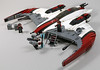 S27 Buzzard Starfighter (2:STUDS) Tags: infantry robot ship lego space military helicopter walker futuristic speeder mech hovercraft drone defenses starfighter