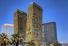 Las Vegas: Veer Towers (Lee Nichols) Tags: vegas photoshop lasvegas hdr highdynamicrange lasvegasboulevard lasvegasstrip photomatix tonemapped tonemapping handheldhdr leaningtowers veertowers canoneos600d