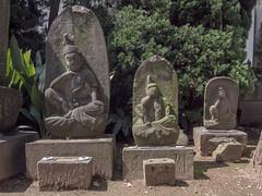(chidorian) Tags: grave statue temple tokyo photowalk   photowalking  tekupachi  20160409