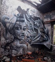Sweo  Nikita (tomatokid99) Tags: streetart france art graffiti 3d marlene urbanart graff nikita gard visage abandonn anamorphose legrauduroi sweo 57crew
