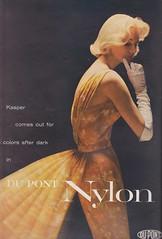 DuPont Nylon 1956 (moogirl2) Tags: retro vogue 50s 1956 supermodels vintageads vintagefashions vintagevogue 50sfashions sunnyharnett dupontnylon