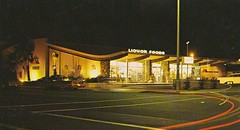 """""""Palm Springs' Largest and Finest Liquor Store"""" (hmdavid) Tags: california food architecture modern vintage store brothers postcard palmsprings liquor commercial 1960s roadside googie stores germain midcentury"""