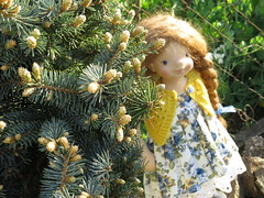 Tania (Snezinka-Snowflake) Tags: art doll natural fiber waldorfdoll steinerdoll naturaltoys waldorfinspireddoll naturalfiberartdoll