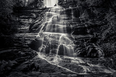 cascade of light (Port View) Tags: longexposure blackandwhite bw usa monochrome mono us waterfall high unitedstates newhampshire le cascade arethusafalls hartslocation fujixe2