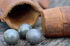 Muzzle loader ball bag and stopper (msembeck) Tags: bag balls loader muzzle macromondays