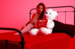 Day 045/365 - Misty Lovelace and a Bear (Great Beyond) Tags: red portrait woman love female 50mm bed model candy affection flash einstein slide valentine slidefilm lovers 35mmfilm teddybear fujifilm 365 february alienbee slides e6 3000v valentinesday stvalentine stvalentinesday canonrebelti 2016 canonef50mmf14usm fujiprovia100f alienbees fujichromeprovia100f offcameraflash project365 saintvalentinesday february14th canoneosrebelti colorreversal strobist modelmayhem e640 hallmarkholiday einsteine640 canoneosrebel3000v february2016 mm3544721