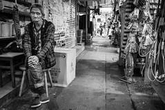 Another day (Calvin Lee a.k.a calvin83) Tags: street city people urban blackandwhite bw man nap sleep lane sit aged