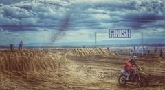 Beach Race (Jane in the UK) Tags: beach offroad finish motorbikes westonsupermare motorsport scramblers scrambling sandspray beachrace sandtrack beachsport