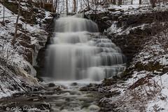 Clarendon Falls 2 (awaketoadream) Tags: new york winter waterfall long exposure gloomy state cloudy niagara falls western clarendon escarpment