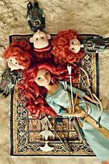 tapestry fun for reds (girl enchanted) Tags: film boys movie toys disney hubert brave harris triplets disneystore famish meridadoll bravedoll