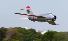 Fresco Fantastic (Rob Shenk) Tags: aircraft airplanes jet vietnam airshow soviet russian mig afterburner mig17 langleyafb