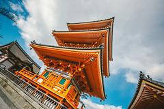Kiyomizu-Dera Temple_1 (hans-johnson) Tags: blue red sky orange japan canon temple eos kyoto   nippon kansai   kiyomizu kiyomizudera nihon   kiyomizutemple 1635 kinki otowa   kiyomizuderatemple otowasan    vsco 5d3 vscofilm vscocam