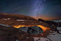A Winter's Mesa Arch (Wayne Pinkston) Tags: longexposure nightphotography sky night stars arch nightscape space galaxy astrophotography canyonlands nightsky cosmos mesa milkyway mesaarch stonearch naturalarch niknon widefieldastrophotography landscapeastrophotography waynepinkston wwwwaynepinkstonphotocom