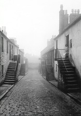 Heans Lane (Dundee City Archives) Tags: street old woman stone buildings child photos dundee steps cobbled tenement slums 1918 victorianhousing heanslane