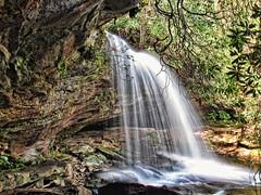 Schoolhouse Falls- Nantahala Forest-North Carolina (Moments With Brad) Tags: travel mountains nature canon photography waterfall hiking explore wilderness nantahala westernnorthcarolina panthertownvalley ncphotography canonpowershotsx520 raleighphotographers