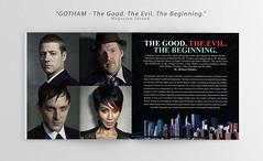 """Gotham"" (Magazine Spread) (MTsirakisDesign) Tags: usa canada magazine spread book design marketing tv graphic designer creative jim gordon batman series gotham branding"
