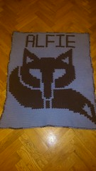 Fox blanket for Alfie (dochol) Tags: baby chart cute wool handmade name crochet craft graph yarn fox blanket afghan alphabet manta personalised croche crochethooks haakenwert