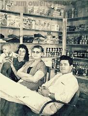 At grandmas store with Jim Owens grandma Justeen and Randy.. (mark owens2009) Tags: sugar cornflakes grandpastore