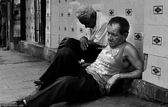 I am getting too old for this ! (Neil. Moralee) Tags: street old people blackandwhite bw white man black men drunk mono bottle nikon sitting drink candid homeless havana cuba neil health mature alcohol older rum vest vagrant drinkers 2010 comunity vagrent d5000 moralee neilmoralee