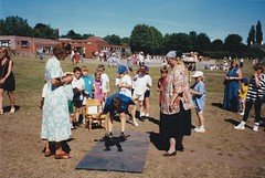 Tom in the Long Jump at Westgate School Bury St Edmunds 1990's (Bury Gardener) Tags: family friends relatives oldies 1990s
