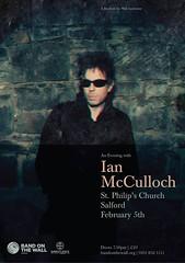 Ian McCulloch @ St Philip's Church, Salford 5/2/2016 (stillunusual) Tags: uk england music church manchester concert flyer live gig livemusic salford ianmcculloch mcr 2016 echoandthebunnymen stphilipschurch stphilipswithststephen