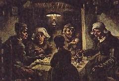 de aardappeleters 1885, Vincent van Gogh (JANKUIT) Tags: selfportrait schilder museum vincent potato edvard gogh munch zelfportret vangogh vangoghmuseum eaters potatoeaters aardappeleters verbinding gelijkheid