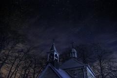 The sky was blue (marcos schmitz) Tags: sky dark stars landscape long exposure belgium ardennes galaxy mont fagnes toiles rigi