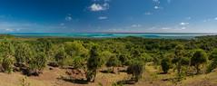 Babeldaob Coast (Warriorwriter) Tags: beach landscape island coast surf day cloudy jungle tropical palau pw oceania babeldaob ngarchelong