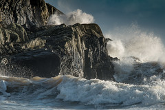 The Waves (jillyspoon) Tags: seascape storm water canon scotland rocks waves crashingwaves irishsea machars canon70200 monreith 70d wigtownshire canon70d stormhenry