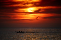 Fishing the sunset (leewoods106) Tags: sunset red orange fishermen boat sabah borneo tanjungaru malaysia asia southeastasia silhouettes ocean pacificocean pacific water wet sea beautifulimage beautiful beautifulview beautifulplaces beautifulsunset beautifulseascapes beautifulmoments seascape mustseeplaces incredible trip vacation holiday holidays journey tranquil tranquillity traveling traveler travel photographer photography photo photos silhouette canon canonefs55250mmstm canoneosm clouds cloudy cloud flag outside outdoors stunningisland stunning stunningplaces island beautifulisland