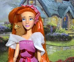 17 inches Giselle Doll With her Friend Pip - Singing doll repainted / rerooted hair (The Fairytale land Of Ariel Triton) Tags: princess pip giselle orangehair enchanted disneystore waltdisney handmadedress ooakdoll customdoll iltaitunefois nylonhair singingdoll waveshair reroothair repaintface bellesingingdollrepaint nylonhairnectarine pinkdressdisney