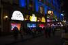 Peanuts Family (UrbanphotoZ) Tags: nyc newyorkcity ny newyork clock night manhattan peanuts linus midtown pedestrians macys charliebrown heraldsquare storewindows windowdisplays holidaydisplay sallybrown linusvanpelt