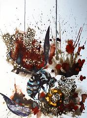 Así es (MariaPaula Quiva) Tags: life art love nature collage illustration ink bug watercolor paper insect death colombia arte dreams artbcn artwoman womeninarts paperlove womenartist bogotart