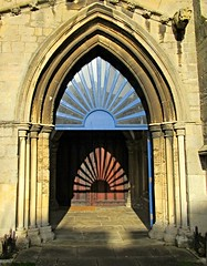 Oakham All Saints (DncnH) Tags: door winter light shadow entrance doorway rutland oakham